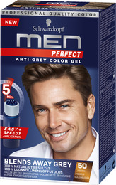 Schwarzkopf Men Perfect 50 Lysebrun 80 ml