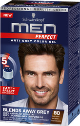 Schwarzkopf Men Perfect 80 Sortbrun 80 m