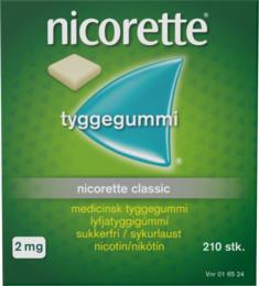 Nicorette® Classic tyggegummi 2 mg 210 stk
