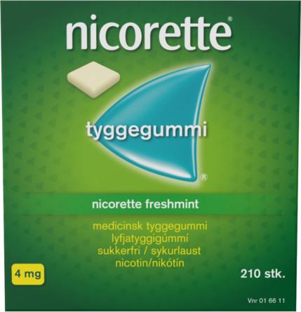 Nicorette® Freshmint tyggegummi 4 mg 210 stk