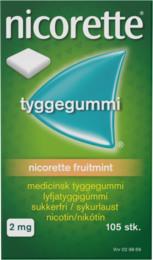 Nicorette® Fruitmint tyggegummi 2 mg 105 stk