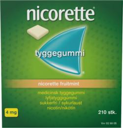 Nicorette® Fruitmint tyggegummi 4 mg 210 stk