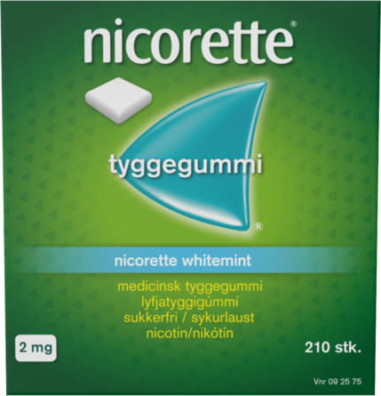 Nicorette® Whitemint tyggegummi 2 mg 210 stk
