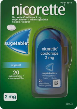 Nicorette® Cooldrops IcyMint sugetabletter 20 stk