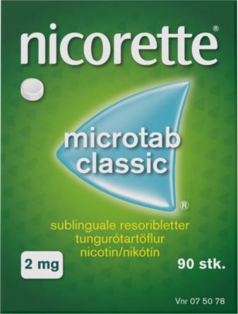 Nicorette® Microtab Classic 2 mg 90 stk
