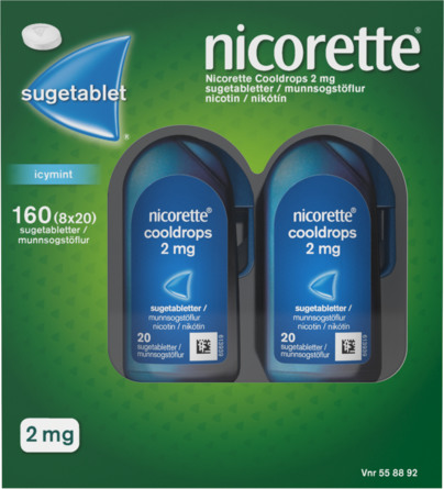 Nicorette® Sugetablet IcyMint 160 stk
