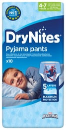 DryNites Natunderbukser 4-7 år Boy 10 stk.