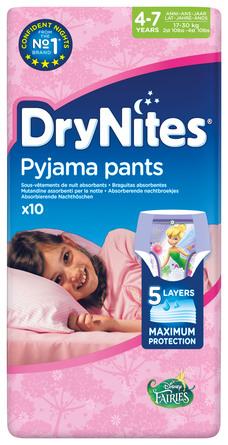 DryNites Natunderbukser 4-7 år Girl 10 stk.