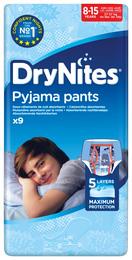DryNites Natunderbukser 8-15 år Boy 9 stk.