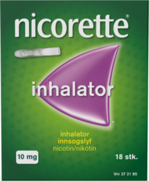 Nicorette® Inhalator+Refill 10 mg 18 stk