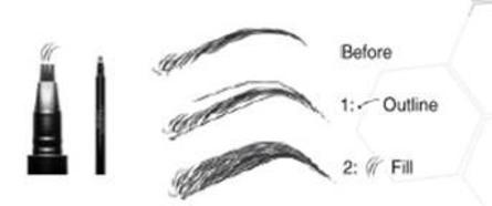 LashFood BrowFood 24H Tri-Feather Brow Pen Dark Brunette