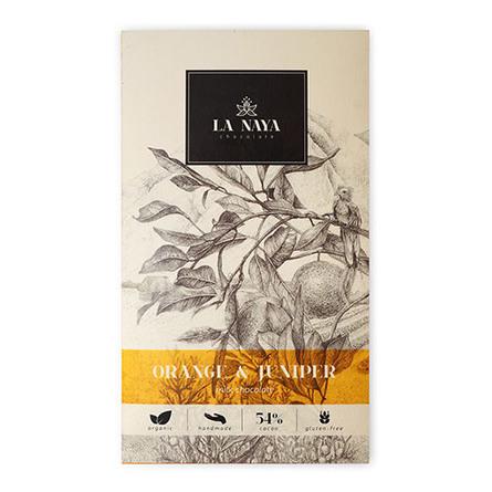 Chokolade-Appelsin & Enebær Ø La Naya 80 g