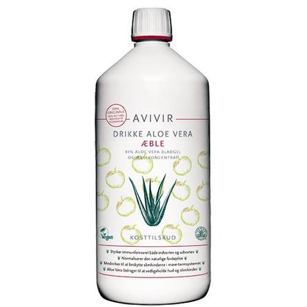 AVIVIR Aloe Vera Drikkeklar Æble 1000 ml