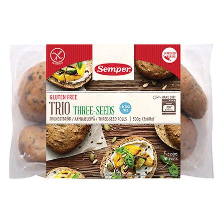 Brød trio glutenfri Semper 300 g