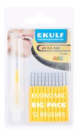 Ekulf Mellemrumsbørste gul 0,6 12 stk. Gul