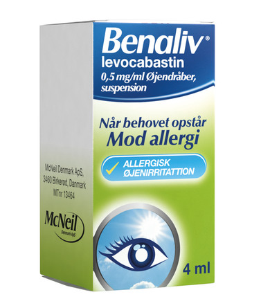 Benaliv Øjendråber, 4 ml