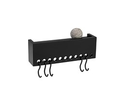 Nomess So-Hooked Wall Rack MINI 30 Rubber Black