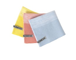 Nomess Dish Cloth 3 pack Yellow/Pink/Blue