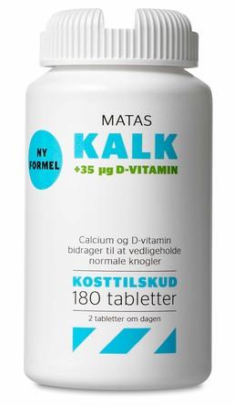 Matas Striber Matas Kalk + 35 µg D-vitamin 180 tabl.