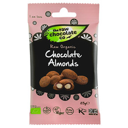 Mandler m. rå chokolade Ø Snack pack 25 g