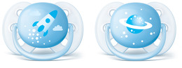 Philips Avent Soother Ultra soft 0-6m 2-pack, blue