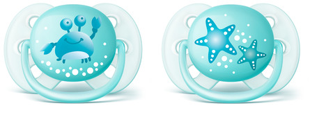 Philips Avent Soother Ultra soft 0-6m 2-pack, green