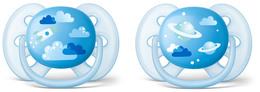 Philips Avent Soother Ultra soft 6-18m 2-pack, blue