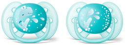 Philips Avent Soother Ultra soft 6-18m 2-pack, green