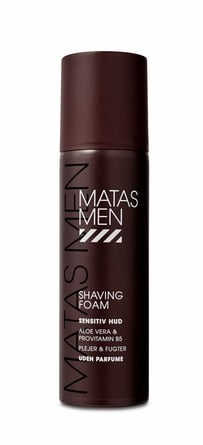 Matas Striber Men Shaving Foam til Sensitiv Hud Uden Parfume 200 ml