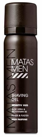 Matas Striber Men Shaving Gel til Sensitiv Hud Uden Parfume 50 ml, rejsestørrelse