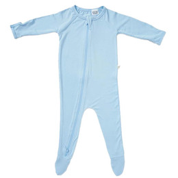 Boody Baby Long Sleeve Body Suit Blå 3-6
