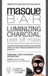 MasqueBar Luminizing Charcoal Peel Off 3x10mlMask