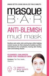 MasqueBar Anti Blemish Mud Mask 3x15ml