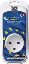 GoTravel Danmark - Euro Adaptor, hvid