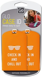GoTravel Baggage Etiket,ID Glo, 2 stk ass. farve