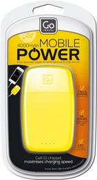GoTravel Mobil Powerbank Oplader 4000, gul