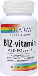 B12 vitamin med folsyre 1000 mcg suget 90 tab
