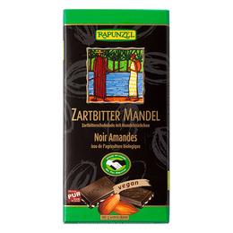 Chokolade m. mandler Ø Rapunzel 80 g