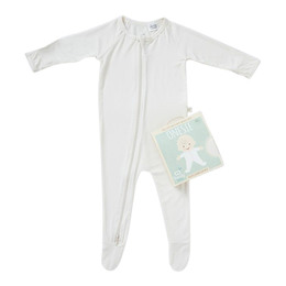 Boody Baby Long Sleeve Body Suit Natur 6-12