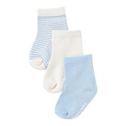 Boody Baby 3 Pack Socks Natur/Blå 0-3