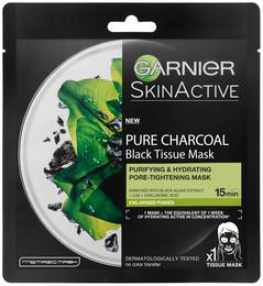 Garnier Black Tissue-maske Algae 28 g