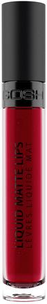 Gosh Copenhagen Liquid Matte Lips 009 The Red