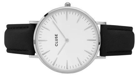 Cluse La Bohème Dameur Silver CL18208 White/Black