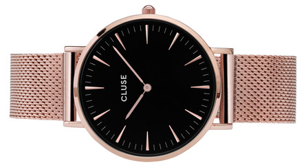 Cluse La Bohème Mesh Dameur CL18113 Rose Gold/Black