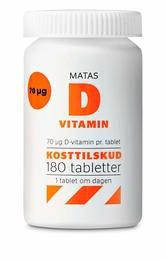 Matas Striber Matas D-vitamin 70 µg 180 tabl. 180 tabl.