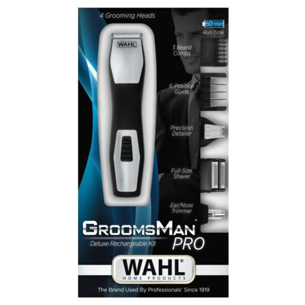 Wahl Skægtrimmer Groomsman Opladbar Pro All in 1