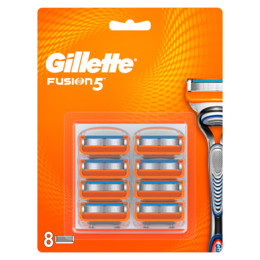 Gillette Fusion manual blade LP 8 stk.