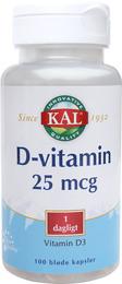 D-vitamin 25 mcg 100 kap