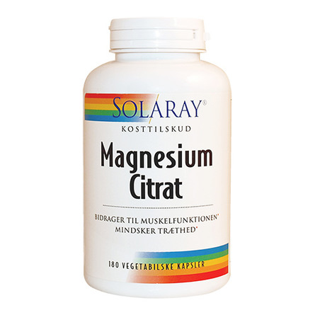 Solaray Magnesium Citrat Mg 180 Kaps