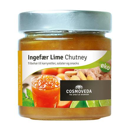 Chutney Ingefær lime Ø 225 g